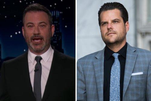 "Jimmy Kimmel Sarcastically Slams Matt Gaetz as ""Criminal Mastermind"""