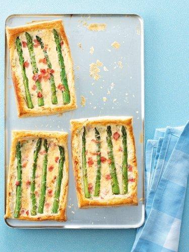 Cheat's asparagus, ham and cheese tart recipe | delicious. magazine