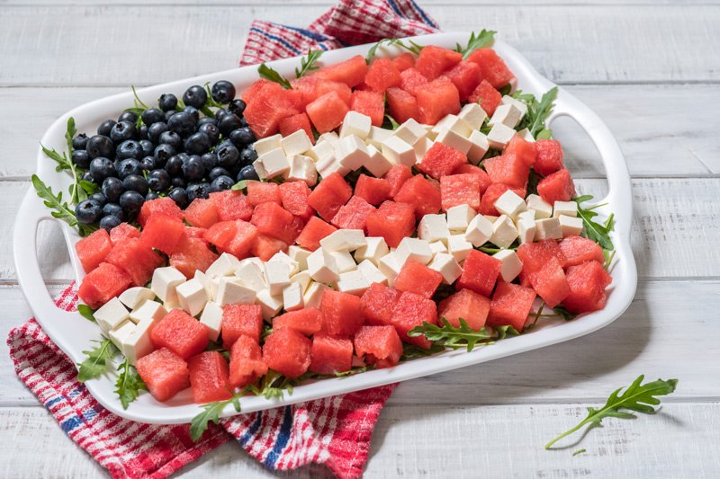 Festive 4th of July Fruit & Cheese Platter