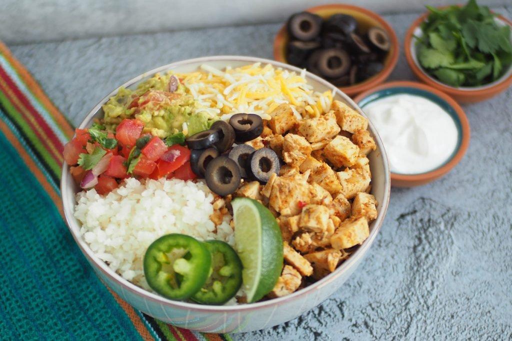 Keto Burrito Bowls With the Tortilla