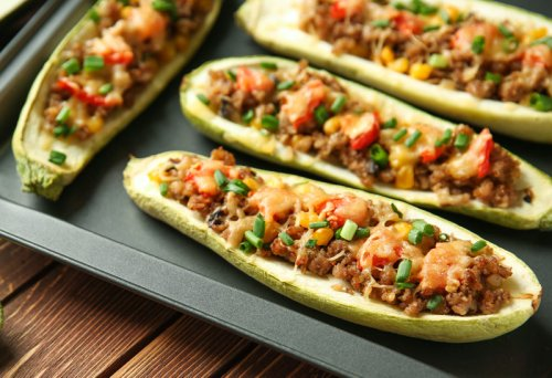 Low-Carb Stuffed Zucchini Boats