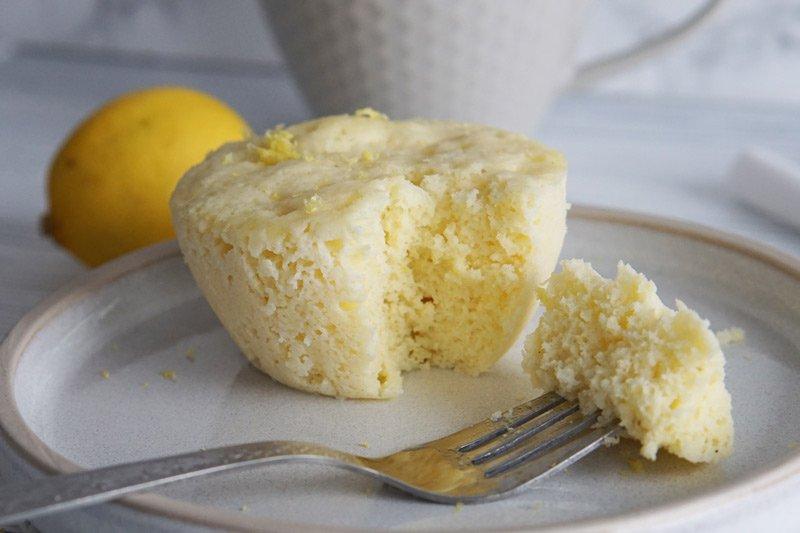 Keto Lemon Mug Cake (Ready in 1 min!)
