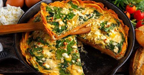 La quiche en croûte de patates douces aux épinards et à la feta va réchauffer les coeurs !