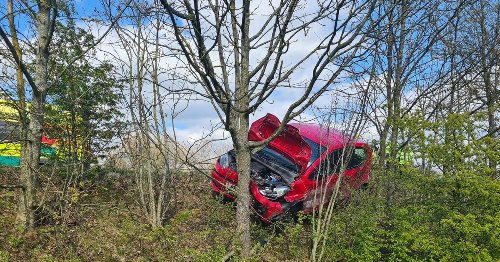 Driver's 'lucky escape' from A50 crash after medical emergency at the wheel