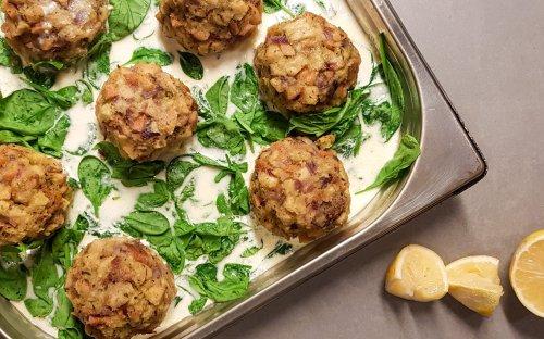Semmelknödel mit Gorgonzola-Sauce aus dem Ofen | Der kulinarische Donnerstag