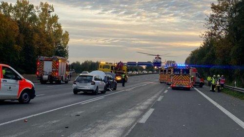 A1 (NRW) war am Kamener Kreuz nach Unfall lange gesperrt – Rettungshubschrauber im Einsatz