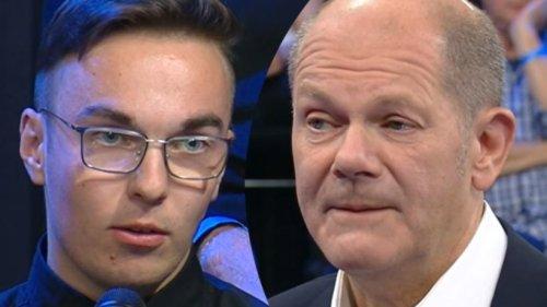 """Olaf Scholz im ZDF: Azubi duzt ihn einfach – und empört sich über Jobcenter: """"Schikane!"""""""