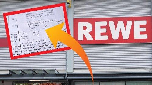 """Rewe: Kunde entdeckt dieses Kassenbon-Detail – """"Riecht nach Betrug"""""""