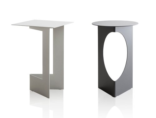 A Table Made From a Square Sheet of Cut Metal