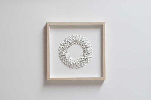 Zai Divecha Turns Plain White Paper Into Geometric Sculptures