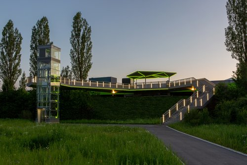 Bleibende Querverbindung: Steg zur Landesgartenschau in Ingolstadt