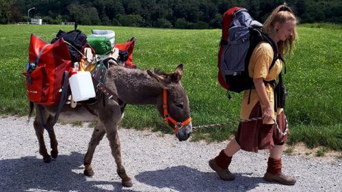 Unterwegs mit Esel Jonny