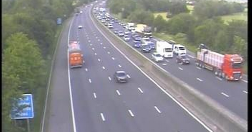 M5 lane closed due to car fire near Tiverton - updates