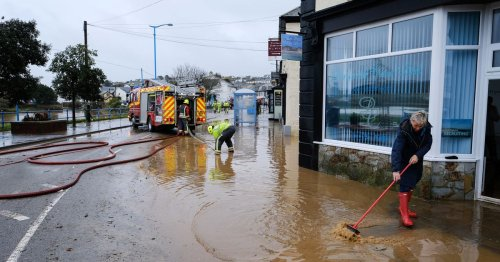 Flood alerts issued in Cornwall as rain batters the county