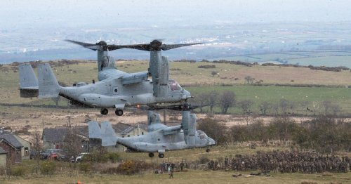 US Marines swoop into Devon on epic choppers