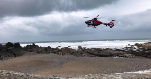 Person airlifted to hospital after suffering injuries on beach