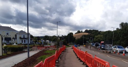 Nightmare Exeter roadworks are eight months behind schedule