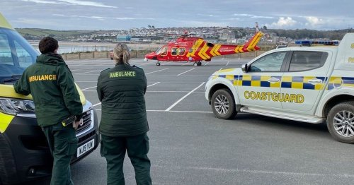 Air ambulance lands in Cornish town after incident