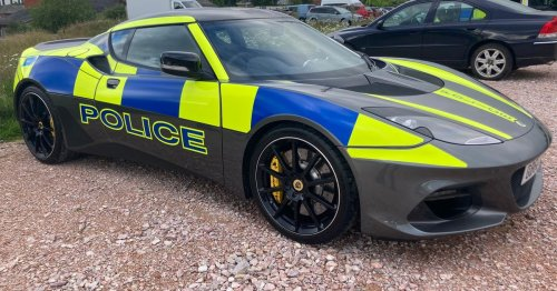 Police explain why expensive Lotus Evora would be worth every penny