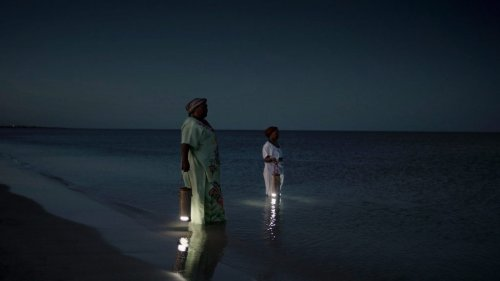 WaterLight is a portable lantern that can be charged with salt water or urine