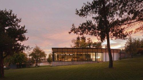Ignacio Correa Arquitecto creates kinked Lake Pavilion for waterfront site in Chile