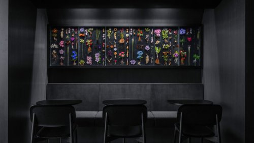 Snøhetta designs Tokyo restaurant with all-black interior and a stage-like kitchen