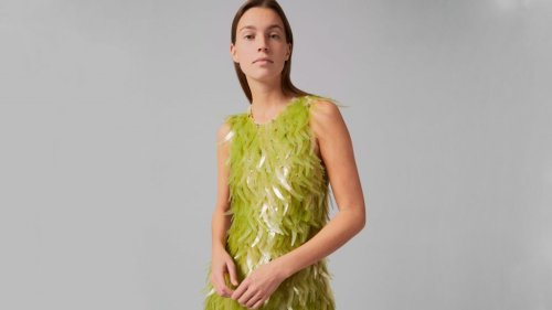 Phillip Lim and Charlotte McCurdy adorn couture dress with algae sequins