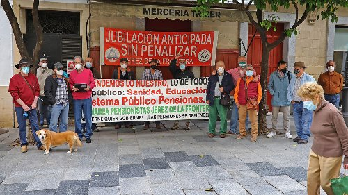 Concentración de la Marea de Pensionistas de Jerez