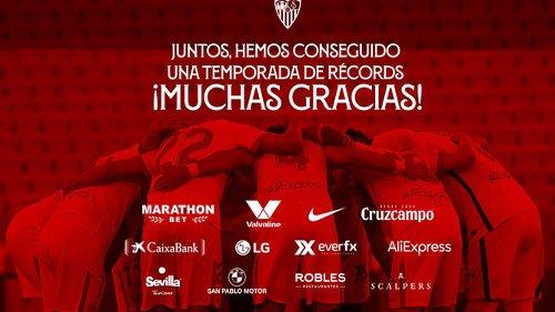 El Sevilla emite una nota dando las gracias a sus patrocinadores