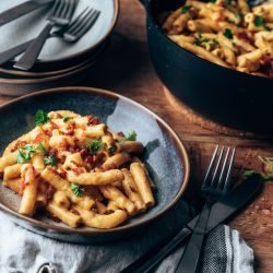 Mac'n'Cheese mit Whisky & Bacon