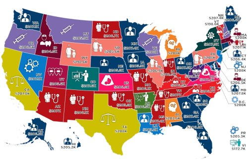 The Highest Paid Occupations In The United States, Mapped