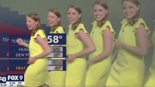 Meteorologist Completely Loses It On The Air When She Multiplies On Screen Due To A Computer Glitch - Digg