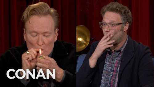 Conan O'Brien Smokes A Hit Of Seth Rogen's Joint During Final Week Of TBS Show - Digg