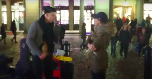 A Busker Was Singing On The Street When He Is Unexpectedly Joined By 'Phantom Of The Opera' Actress For A Duet