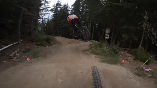 Mountain Biker Commits To Mastering The World's Most Famous Jump