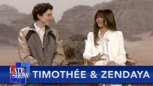 Things Get Awkward When Stephen Colbert Asks 'Dune' Stars Timothée Chalamet And Zendaya If They've Read The Book