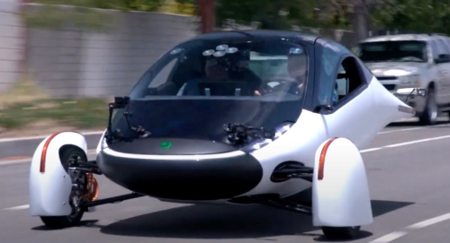Jay Leno Tests Out A Solar-Powered Electric Vehicle That Never Needs To Be Charged