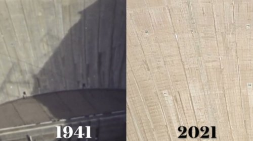 Someone Did A Side-By-Side Comparison Of The Water Level Of Lake Mead At The Hoover Dam In 1941 Compared With Today, And The Difference Is Stark - Digg