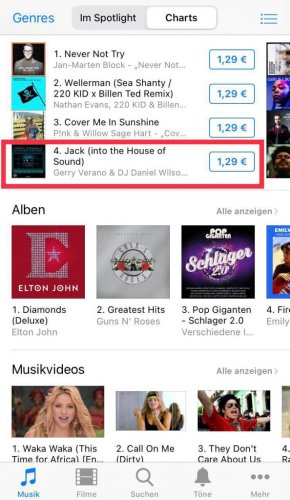 Gerry Verano & DJ Daniel Wilson entered the iTunes ALL GENRE Charts with Jack (into the House of Sound) - Digital Room Records