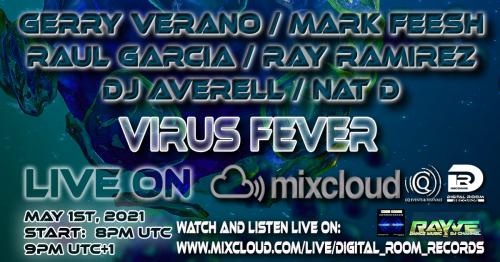 Digital Room Records VIRUS FEVER: Gerry Verano, Mark Feesh, Raul Garcia, Ray Ramirez, Nat D & DJ Averell LIVE ON TV! -
