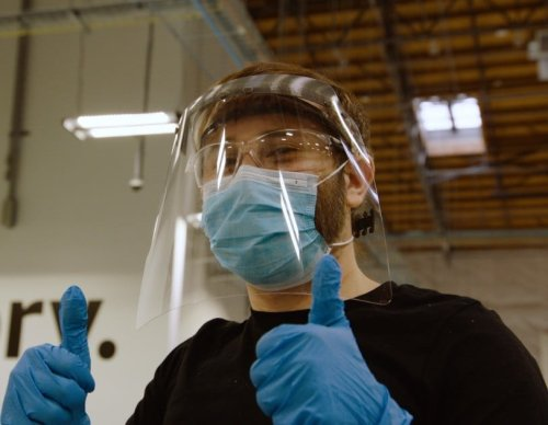 Amazon's custom-made face shields available to the public at less than cost