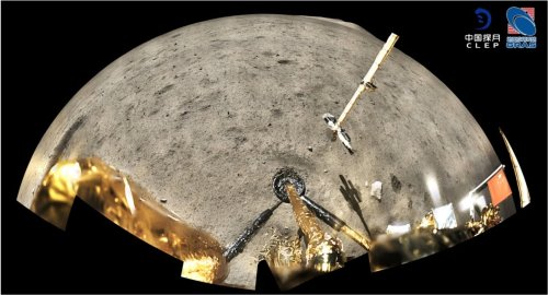China's lunar sample contains glassy beads and impact fragments