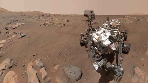 Perseverance selfie shows it's been a busy Mars rover of late