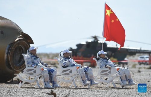 Three astronauts land safely after China's longest crewed space mission to date