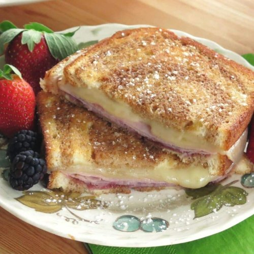 Monte Cristo Grilled Cheese Sandwich Recipe (with Jam!)
