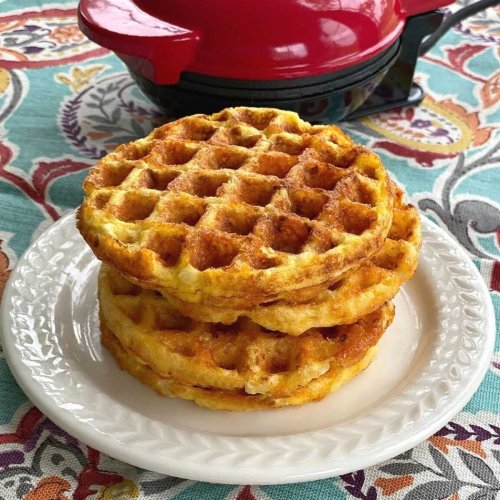 Cauliflower Waffles - 3 Ingredient Chaffles!