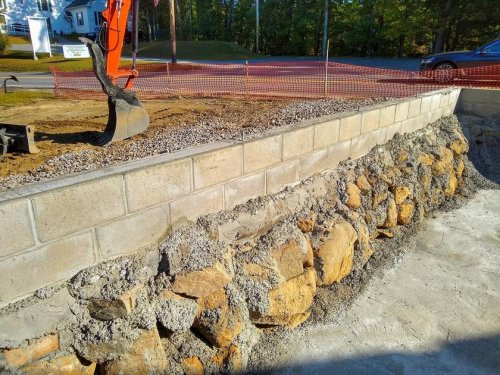 Ask the Builder | Concrete block on top of stone makes a great foundation