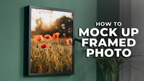 How to create a mock-up of a framed photograph in Photoshop to help you sell more prints - DIY Photography