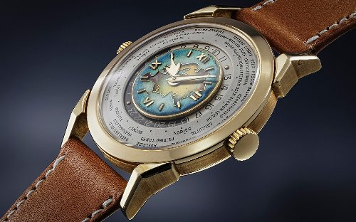 Rare Patek Philippe with Eurasian map dial sells for a record-shattering sum