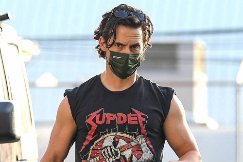 Milo Ventimiglia Rocks Most Provocative Men's Gymwear Trend This Side Of 1970